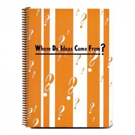 Where Do Ideas Come From? Notebook Journal-by designer Pamela Barsky 7.5 x 9.5 inches