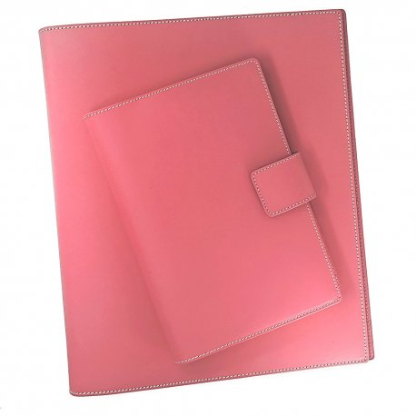 Recycled, Refillable, Refreshingly Bold - Journal & Binder Executive Set -  Cotton Candy