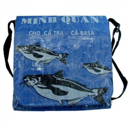 Catch Of The Day Oversize Messenger Bag Blue