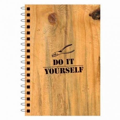 """""""Do It Yourself"""" Faux Wood Notebook"""