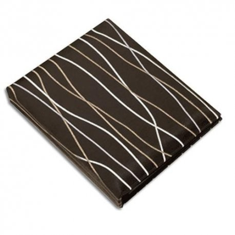 Chocolate Twigs Photo Album - holds 104 4x6 inch photos, embroidered and padded satin cover