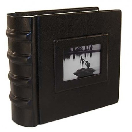 Snapshot Italian Leather Photo Album 8x8, 8x10, 10x10, 9x12 12x12, 14x14 in black or brown