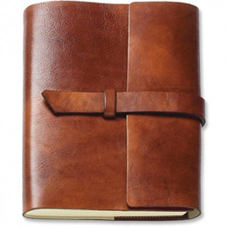 "Large Monastic Italian Leather Journal - Refillable, Unlined. 7x9"", 288 pages. Imported from Gubbio, Italy."