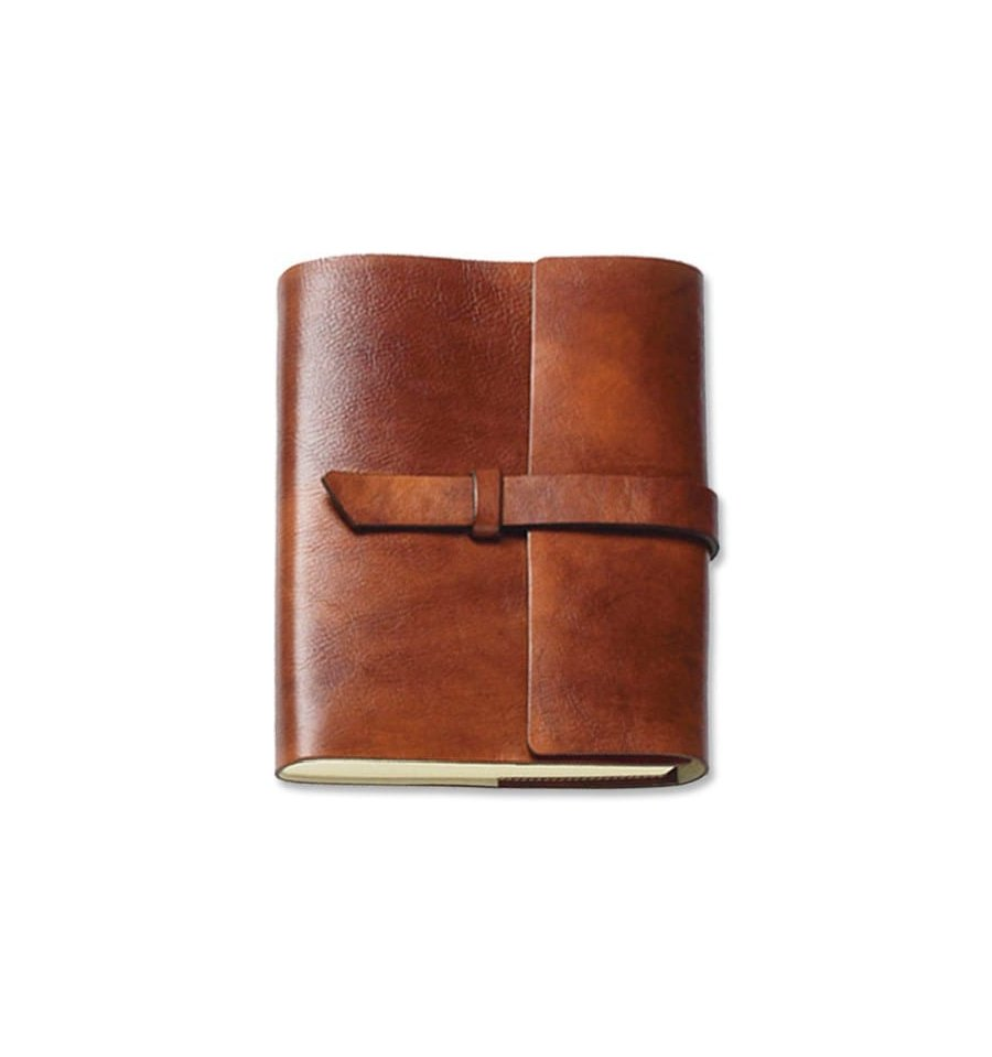 Italian Leather Journal unlined Refillable 6x9 256pg made in
