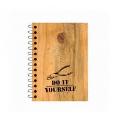 Diy notebook 6x9 do it yourself faux wood pocket notebook solutioingenieria Images