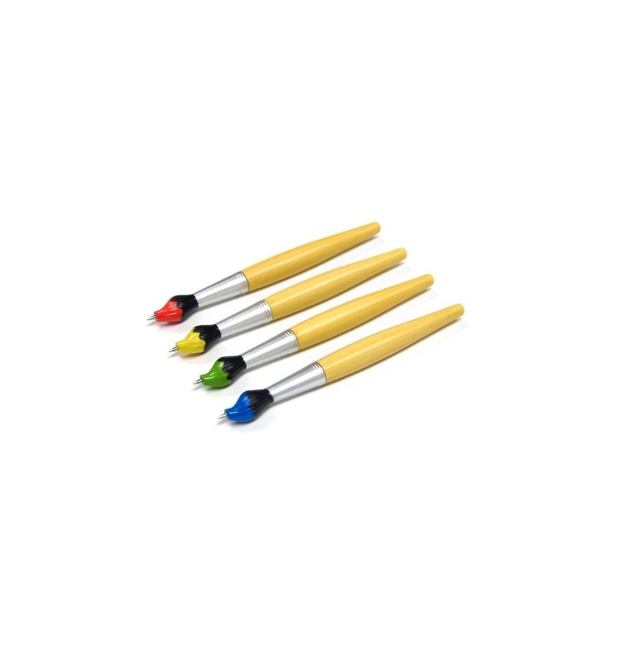 Super Cute Paintbrush Pen by Xonex 4 Colors available ballpoint novelty ink artist painter