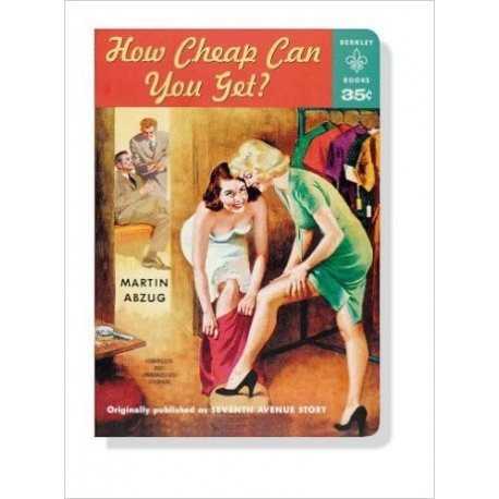 How Cheap Can You Get? Pulp Novel Paperback Journal
