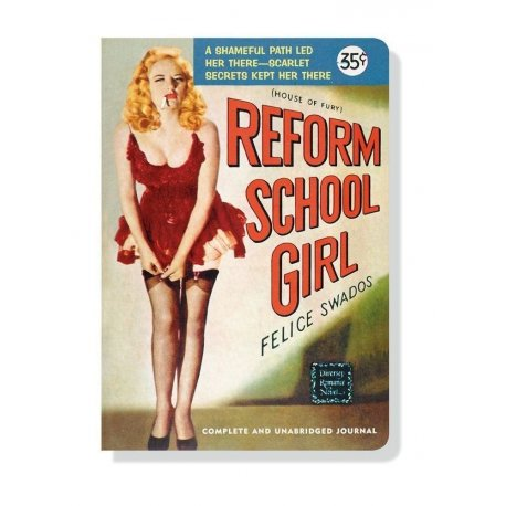Reform School Girl Pulp Novel Paperback Journal softcover diary trashy paperback kitsch