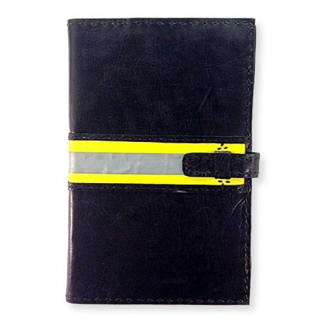 Safety Stripe Handmade Leather Journal