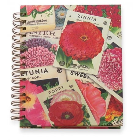 Vintage Seed Packets Hardcover Journal - the perfect gift for garden and flower lovers - Antique seedpackets