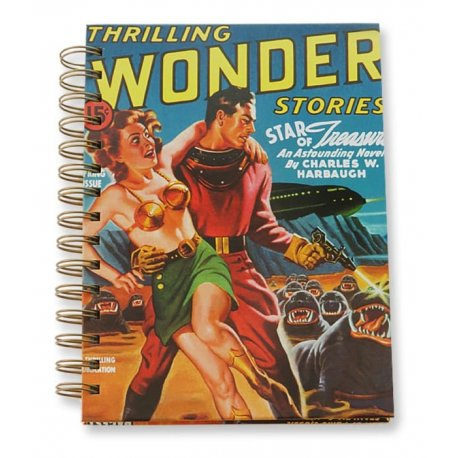 Sci-Fi Thriller Hardcover Wire-O Journal