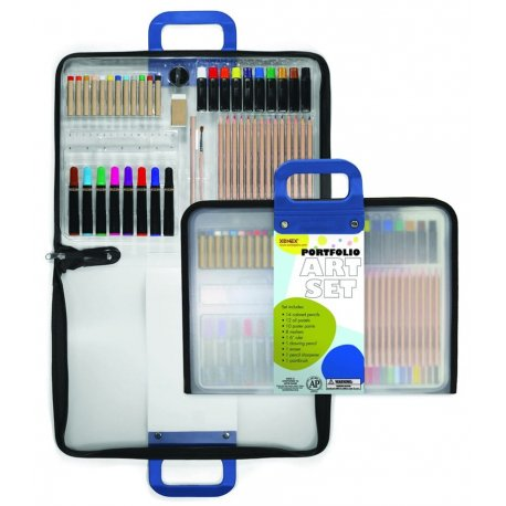 50-Piece Portfolio Art Set by Xonex spark imagination and creativity in your child