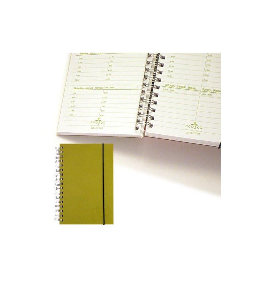 Calendar Planner Journal : Eco friendly agenda journal perpetual week at a glance