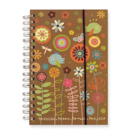 Eco-Friendly Weekly Day Planner and Journal - Meadow by Ecojot recycled recyclable sustainable agenda