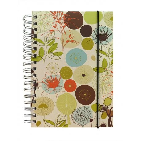 Eco-Friendly Weekly Day Planner and Journal - Blooms. Made by Ecojot recycled recyclable responsibly sourced paper
