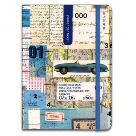 In Transit Travel Journal by Clare Goddard, blue 5x7