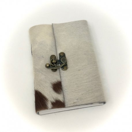 Handmade Goathide Journal with Wildflower Paper, 2 Sizes