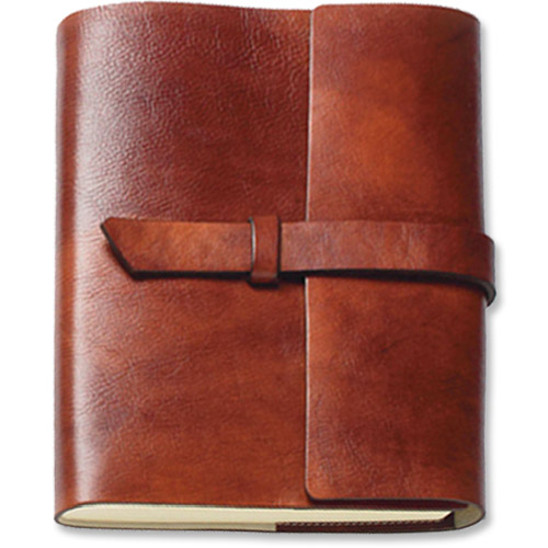 Old Book Cover Journal : Italian leather journal unlined refillable pg made