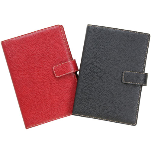 6x9 Refillable Snap Journal or Sketch Book--red or black, 256 ...