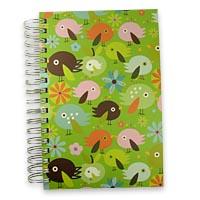 Jumbo Birdbrain Journal Notebook Front Cover View: Cute Little Birdie Design by the Talented Canadian Artist Carolyn Gavin.