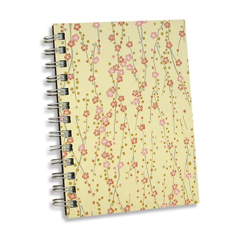 Japanese Paper Book Cover ~ Butter fleurs journal notebook japanese chiyogami