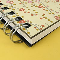 Butter Fleurs Journal 5x7 Notebook Closeup View: High Quality Thick Cover Boards Made From 100% Recycled Post-Consumer Waste Makes an Ideal Gift for your Best Friend or Yourself!