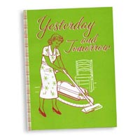 """Yesterday and Tomorrow"" notebook journal sketchbook cover detail: Designer Pamela Barsky's play on housekeeping!"