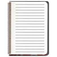 """Inside Detail Motivational Notebook Journals/Set of 2-""""My body is My temple"""" AND """"I will not procrastinate"""": Designer Pamela Barsky Includes this Handy Line Drawing Template."""