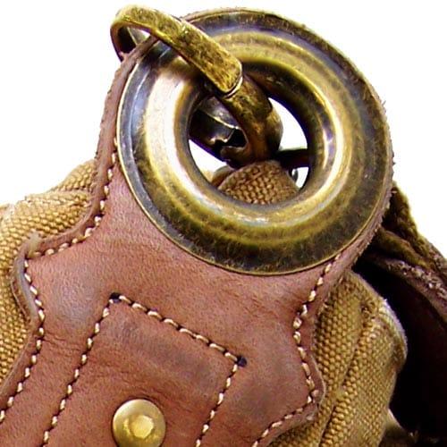 Heavyweight canvas Australian Doctors Bag rugged quality Leather Brass 'Doctor's Bag' brass grommet hardware zipper