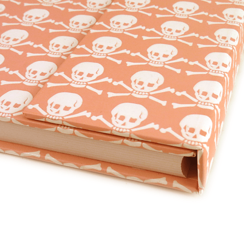 Pink Skull and Crossbones lined writing journal