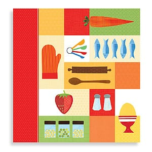 Kitchen Collage Recipe Organizer by Galison for cooks